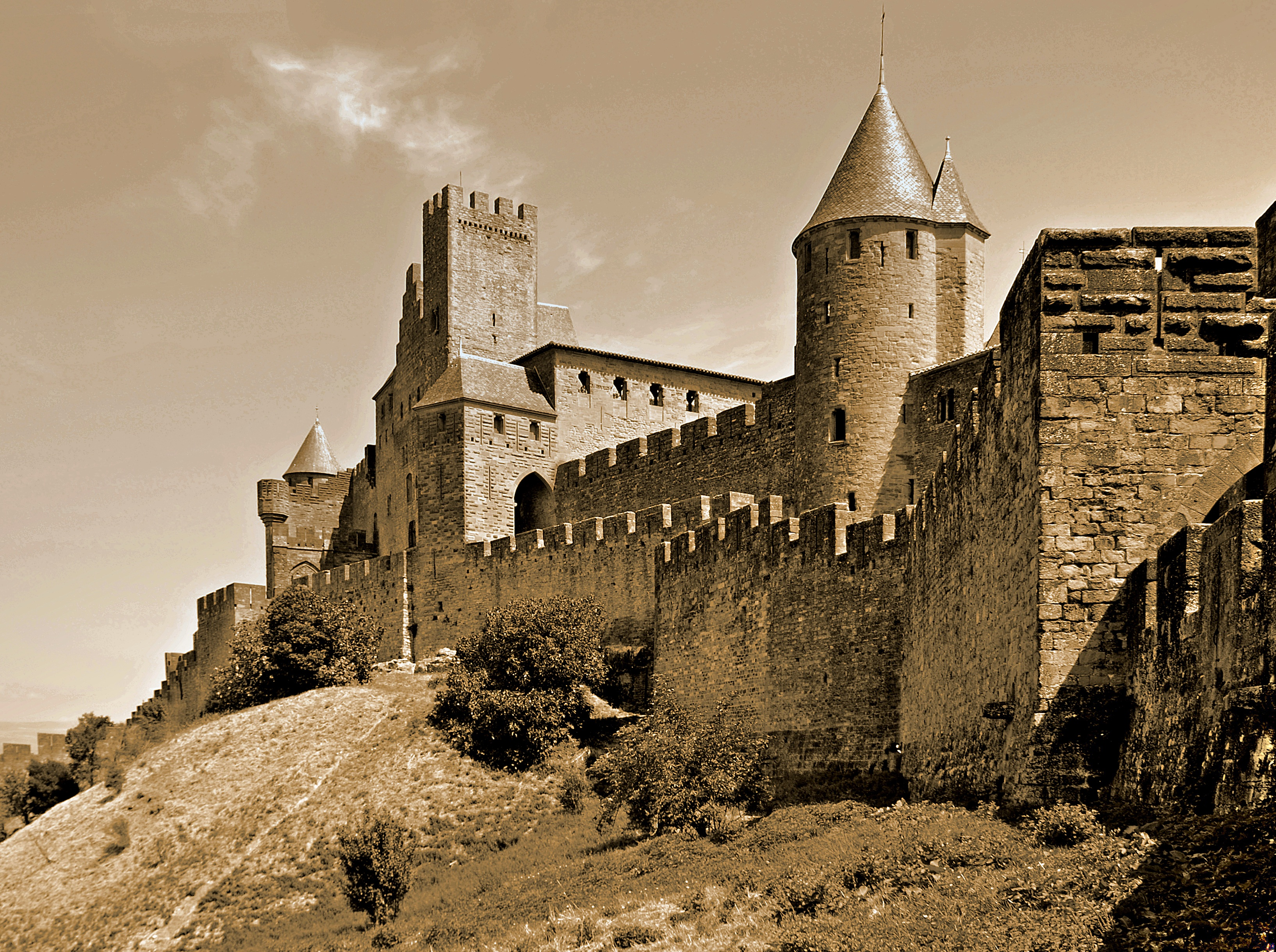 Photo of the Medieval French City of Carcassonne.