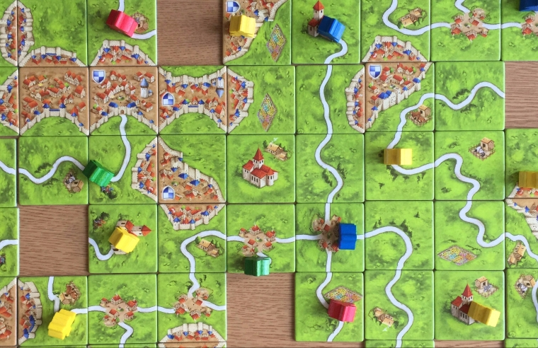 Carcassonne - Tiles with Meeples