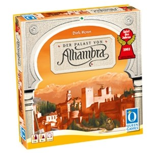 A picture of the game box of Alhambra by Queen Games