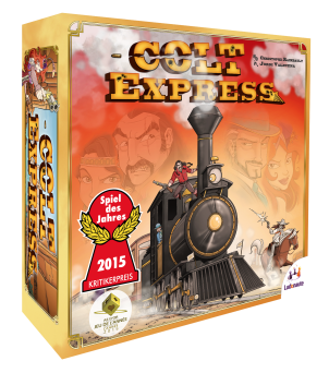 A picture of the game box of Colt Express by Ludonaute