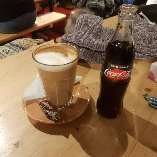 Photograph showing a Coffee and Coke that we drank at Bastards.