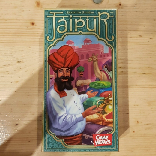 A picture of the Jaipur game box.