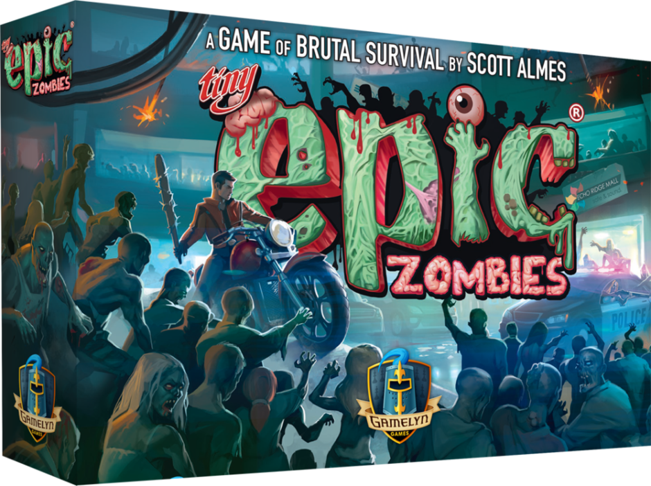 Image showing the game box for Tiny Epic Zombies by Gamelyn Games