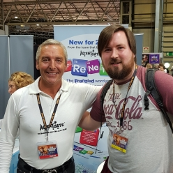 Me and Greame from Accentuate Games the designer of FreNeTiC