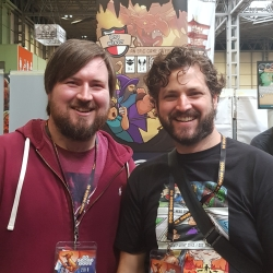 Me and Jamie from The Noble Artist the designer of Hero Master