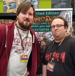 A picture of Me and Mark from City Gate Games the designer of Last One In
