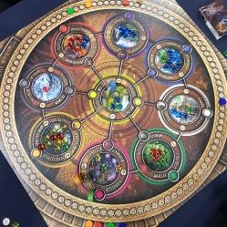 Strikingly colourful play board