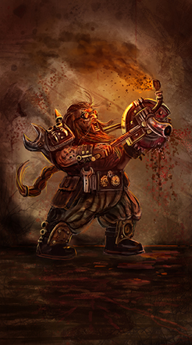 Perdition's Mouth Dwarf Illustration. An Example of Jamie's other work.